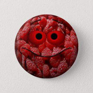 Emoticon engraçado da framboesa bóton redondo 5.08cm