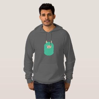 Emoticon triste do lama moleton com capuz