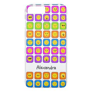 Emoticons felizes do smiley face do arco-íris capa iPhone 8 plus/7 plus