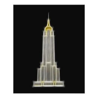 Empire State Building em New York Panfleto