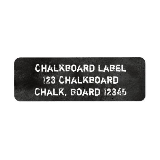 Empoeirado preto & branco do quadro-negro do etiqueta endereço de retorno