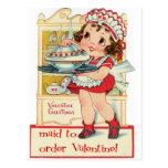 Empregada doméstica retro do dia dos namorados cartões postais