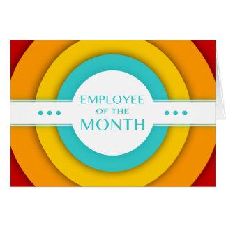 empregado do mês (retro) cartão de nota