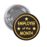 Empregado do ouro do mês boton