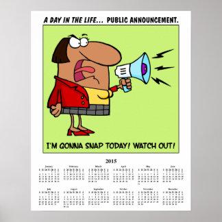 Empregado forçado 2015 calendários posteres
