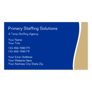 Emprego que provê de pessoal cartões de visitas