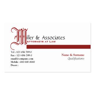 Empresa legal do advogado da lei do advogado cartão de visita
