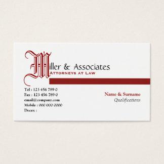 Empresa legal do advogado da lei do advogado cartão de visitas