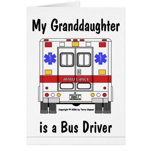 EMS-Ambulância, condutor de autocarro de Grandaugh Cartao
