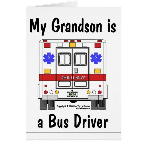 EMS-Ambulância, condutor de autocarro do neto, car Cartões