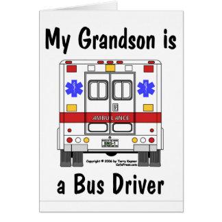 EMS-Ambulância, condutor de autocarro do neto, car Cartão Comemorativo
