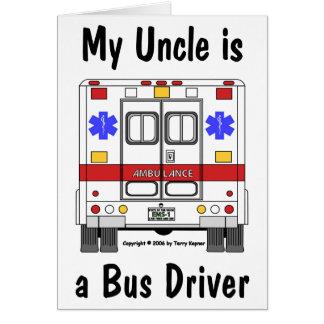 EMS-Ambulância, tio condutor de autocarro, cartão