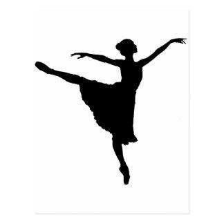 En Pointe da BAILARINA (silhueta) do dançarino de Cartão Postal
