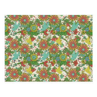Encanto 7 do jardim: rosa do amarelo da borboleta cartão postal