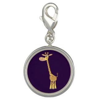 Encanto bonito do girafa dos desenhos animados pingentes com foto