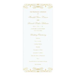 Encanto do vintage do ouro do programa | da convite personalizado