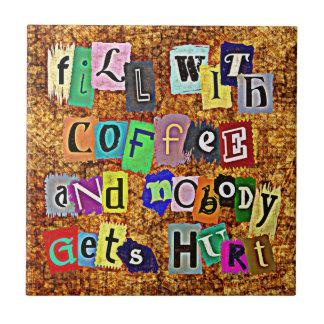 ENCHA COM o azulejo do CAFÉ…