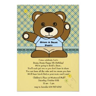Encha um partido do urso convite 12.7 x 17.78cm
