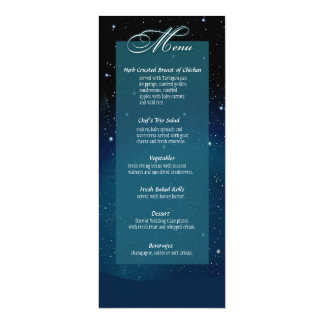 Enchanted nivelando o menu do casamento do convites personalizados