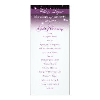 Enchanted nivelando o programa do casamento do convites personalizados