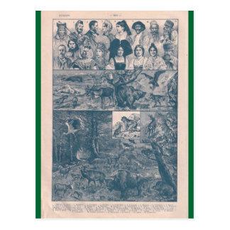 Enciclopédia francesa 1920, Europa, pessoas, anima Cartões Postais