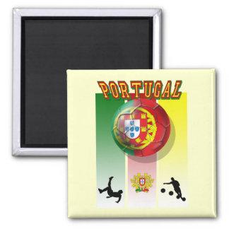 Encontra de Arte e Futebol - Futebol Portuês Ímã Quadrado