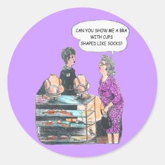 Encontrando a etiqueta direita do sutiã