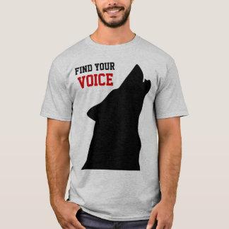 encontre sua camisa dos homens da voz