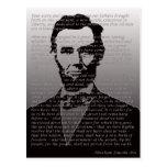 Endereço de Abraham Lincoln Gettysburg Cartões Postais