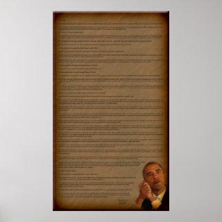 Endereço de inauguração do presidente Barack Obama Posteres