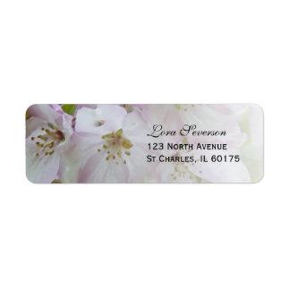 Endereço do remetente cor-de-rosa e branco das etiqueta endereço de retorno