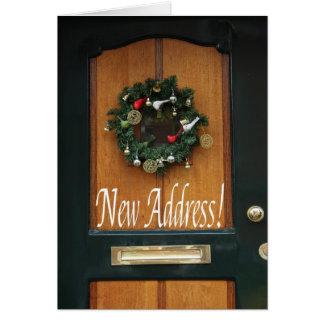 Endereço novo da grinalda clássica do Natal Cartão Comemorativo