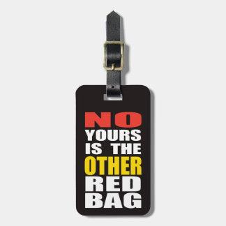 Enegreça o outro Tag vermelho da bagagem do saco Etiqueta De Bagagem