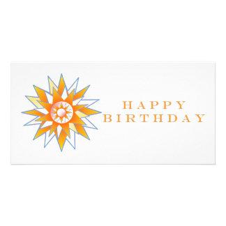 Energia Chakra de Sun do feliz aniversario Cartao Com Foto