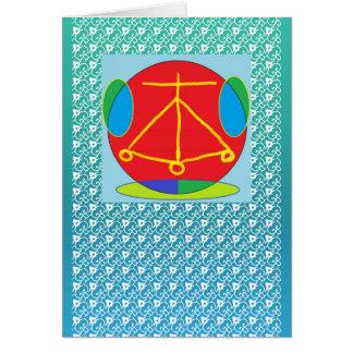 Energia de Karuna Reiki da LAREIRA Cartão Comemorativo