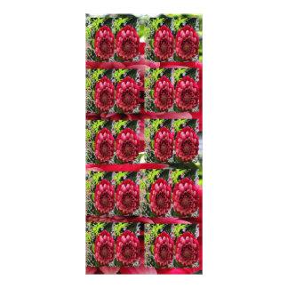 Energia pura: Teste padrão de flor 10.16 X 22.86cm Panfleto