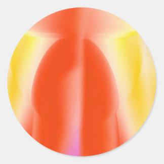 Energia vermelha da vela adesivos em formato redondos