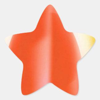 Energia vermelha da vela adesivos em forma de estrelas