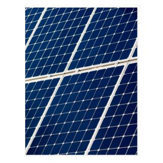 Energias solares cartão postal