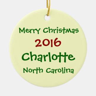 ENFEITES DE NATAL 2016 DE CHARLOTTE NORTH CAROLINA