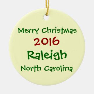 ENFEITES DE NATAL 2016 DE RALEIGH NORTH CAROLINA