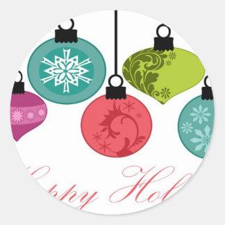 Enfeites de natal boas festas adesivos redondos