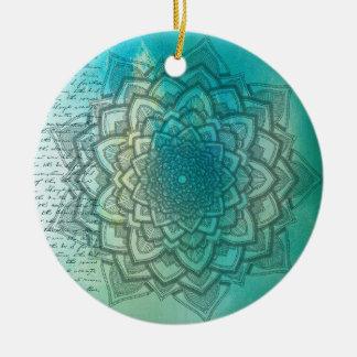 Enfeites de natal bonitos da mandala do azul e da