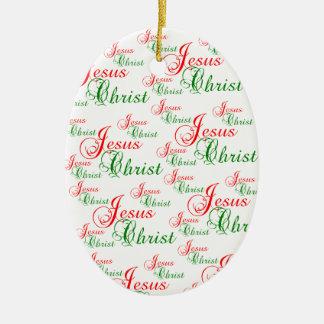 Enfeites de natal cristãos do JESUS CRISTO
