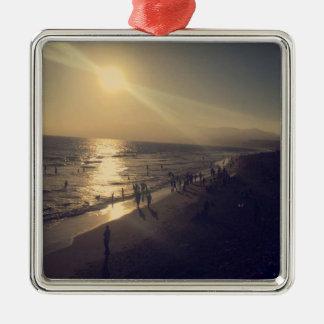Enfeites de natal customizáveis da praia