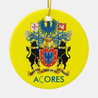Enfeites de natal da bandeira de Açores