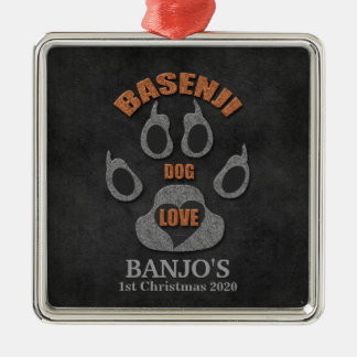 Enfeites de natal da raça do cão de Basenji