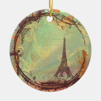 Enfeites de natal da torre Eiffel