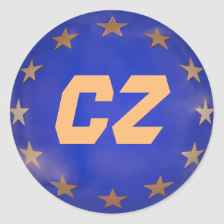 Enfeites de natal da União Europeia de república Adesivo