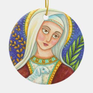 ENFEITES DE NATAL de Mary e de cordeiro